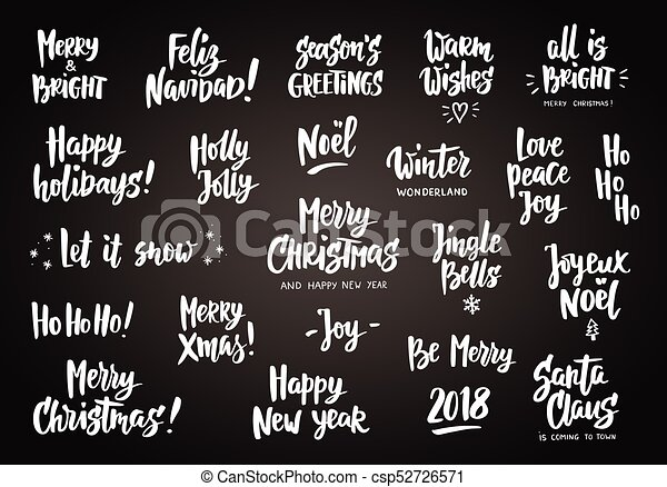 Set of holiday greeting quotes and wishes hand drawn text great set of holiday greeting quotes and wishes hand drawn text great for cards gift tags and labels m4hsunfo