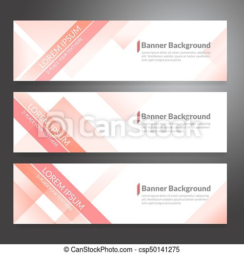 Set of horizon abstract colorful banner background with copy space - csp50141275