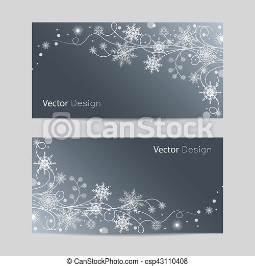 Set of horizontal banners - csp43110408