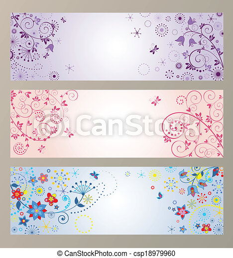 Set of horizontal greeting banners - csp18979960