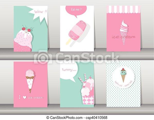 Set of ice cream cones - csp40410568