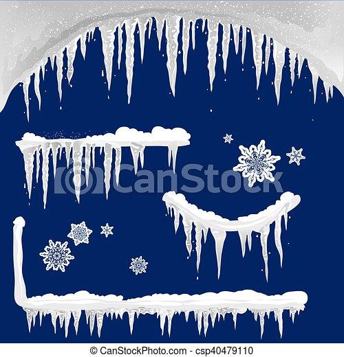 Set of icicle design elements - csp40479110