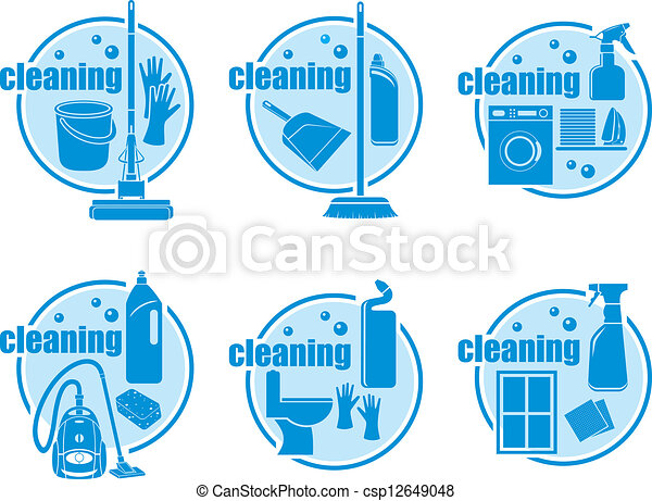 Set of icon cleaning - csp12649048