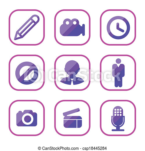set of icon, vector  - csp18445284