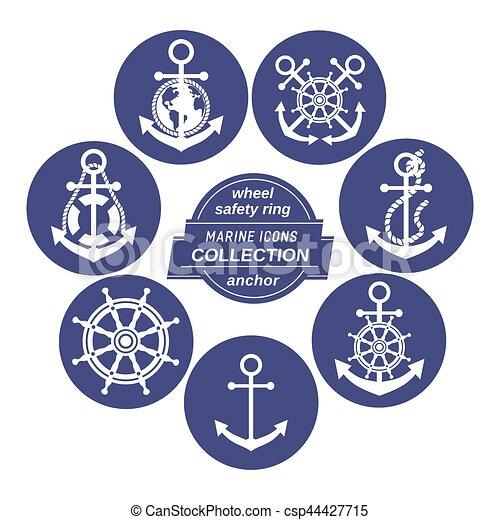 Set of icons in circles - csp44427715
