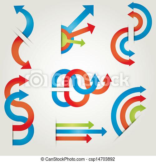 set of icons vector arrows - csp14703892