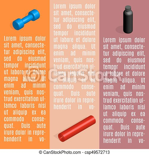 Set of info graphics elements fitness, vector illustration. - csp49572713