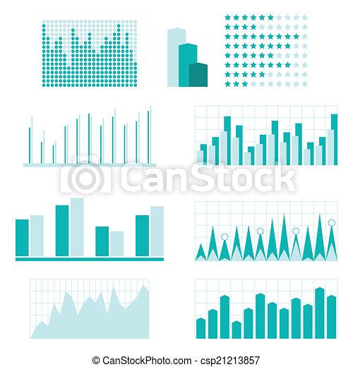 Set of infographic diagram elements for design. - csp21213857