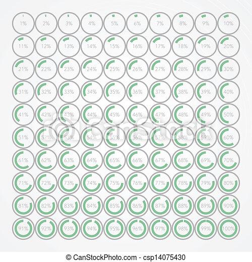 set of infographic percentage bubbles - csp14075430