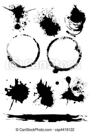 Ink Blots Vector