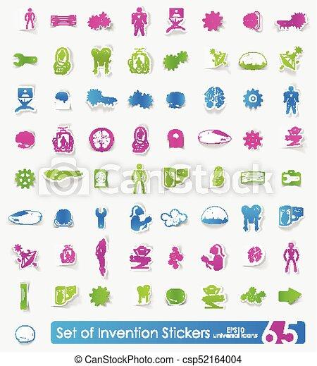 Set of invention stickers - csp52164004