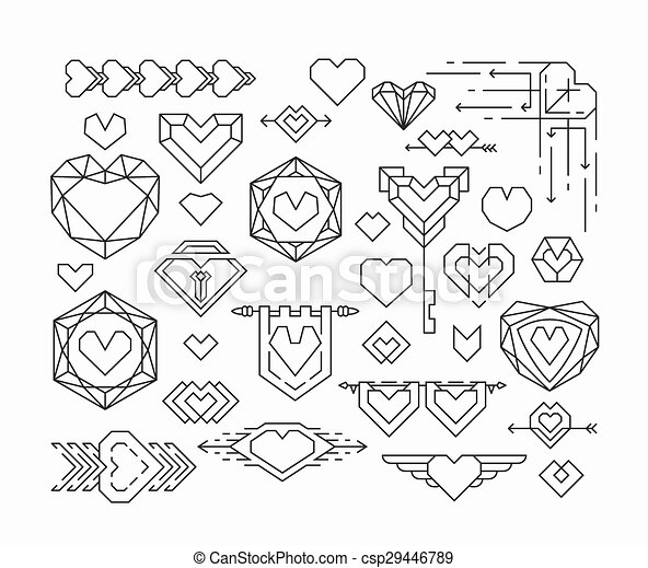 Set of isolated hearts - csp29446789