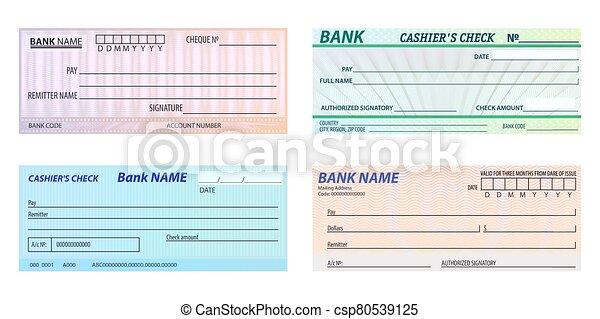 Cashier Check Clip Art - Royalty Free - GoGraph