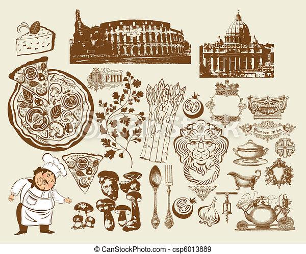Set of Italian symbols - csp6013889
