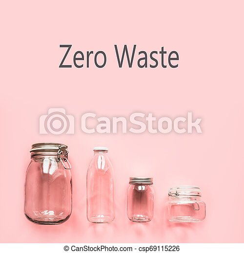 Set of jars for zero waste storage and shopping. Reusable grocery container. - csp69115226