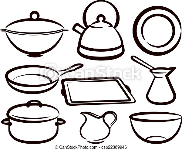 set of kitchen utensil  - csp22389946