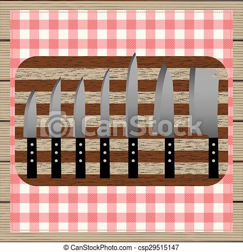 Set of knives. Top view. - csp29515147