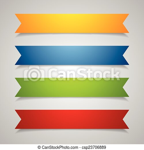 Set of label ribbons - csp23706889