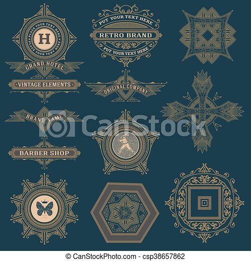 Set of labels and banners. - csp38657862