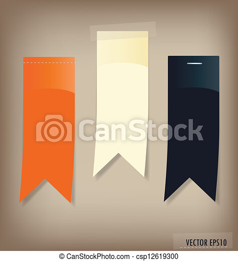 Set of labels with place for text. Vector illustration. - csp12619300