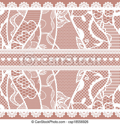 Set of lacy vintage trims. - csp18556926