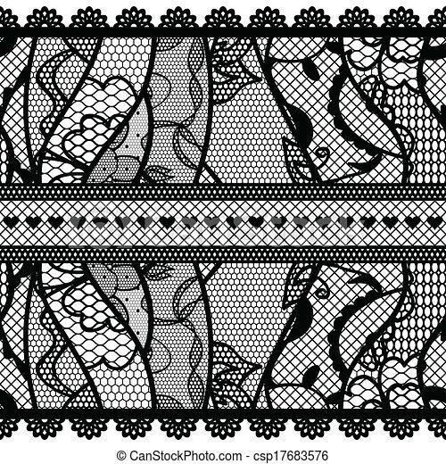Set of lacy vintage trims. - csp17683576