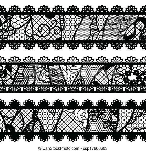 Set of lacy vintage trims. - csp17680603