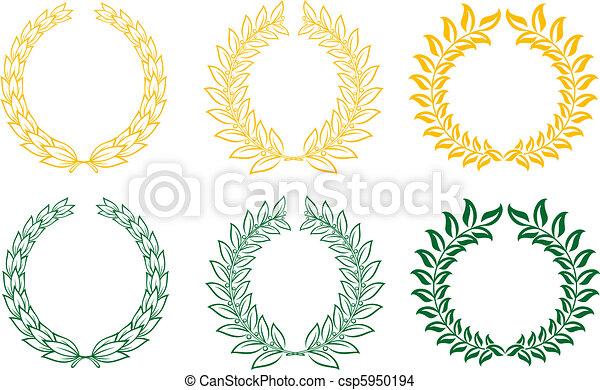 Set of laurel wreaths - csp5950194