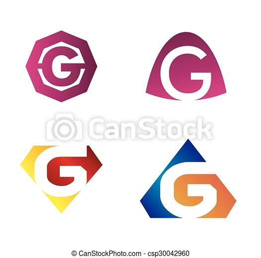set of letter g rh canstockphoto com fancy letter g clipart free letter g clipart