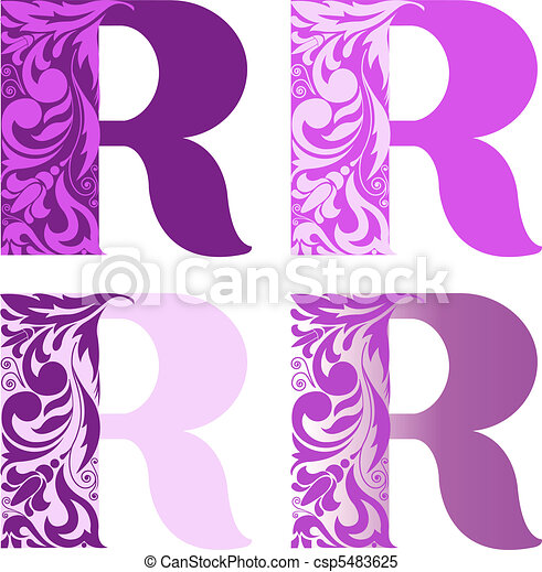 set of letters R - csp5483625