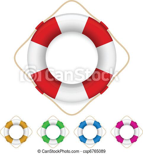 Set of life buoys  - csp6765089