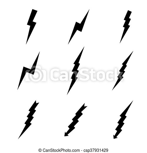 set of lightning vector illustration search clipart drawings and rh canstockphoto com victor lighting victor lighting orange ca