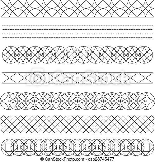 Set of line geometric hipster vintage design elements56 - csp28745477