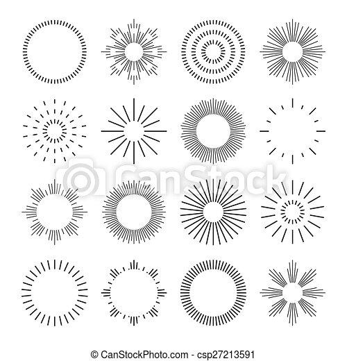 Set of linear badges. - csp27213591