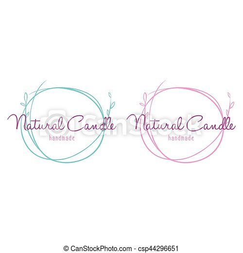 Set Of Logo For Beauty And Cosmetics Handmade Candle Spa Vector Illustrations Graphic