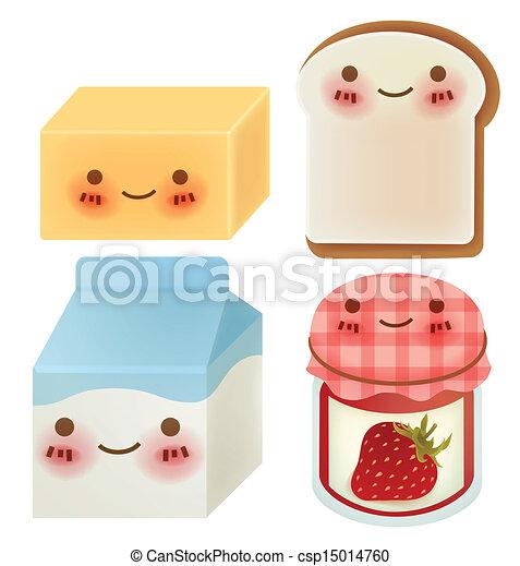 Set of Lovely Breakfast - csp15014760