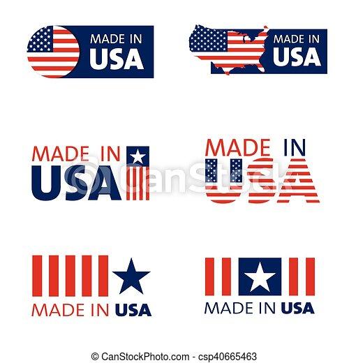 set of made in the USA labels - csp40665463
