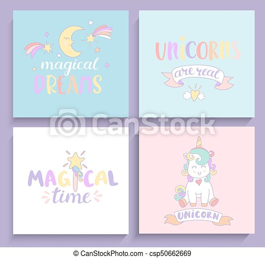Set of magical unicorns cards set of magical unicorns cards with set of magical unicorns cards csp50662669 m4hsunfo