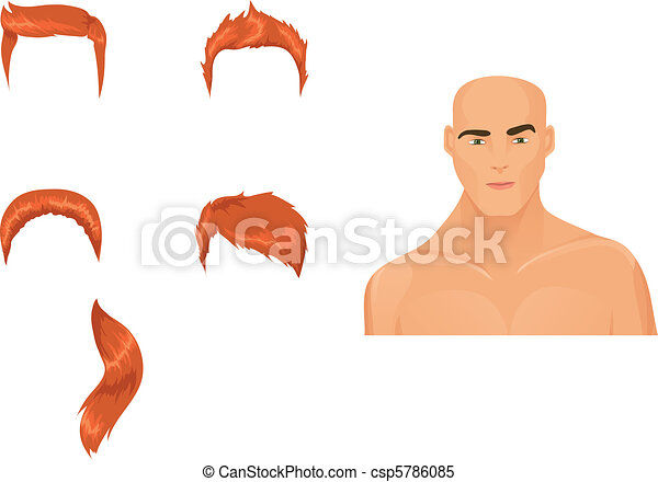 Set of male haircuts - csp5786085