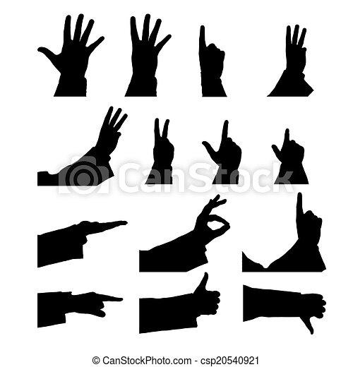 set of male hands - csp20540921