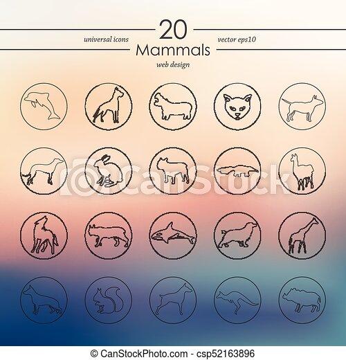 Set of mammals icons - csp52163896