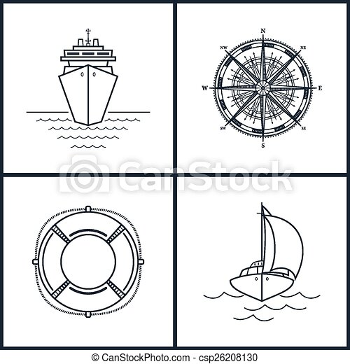 Set of maritime icons - csp26208130