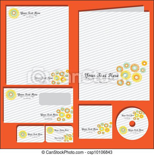 Set of material corporate image - csp10106843