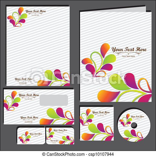 Set of material corporate image - csp10107944