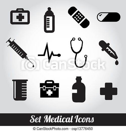 set of medical icons Vector - csp13776450