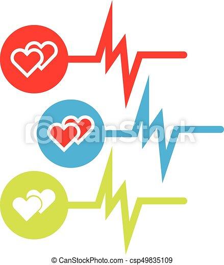Set Of Medical Symbols Set Of Medical Symbols With Hearts