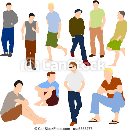 Set of Men in Casual clothes - csp6588477
