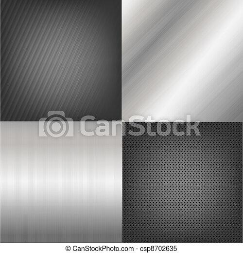 Set Of Metal Texture Background - csp8702635