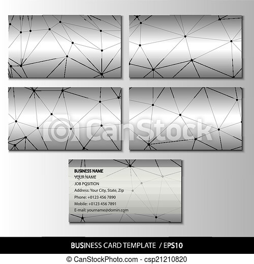 Set of metallic themed business card templates vector vector set of metallic themed business card templates vector reheart Gallery