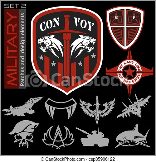 Military Patch Template | Set Of Military Patches Logos Badges And Design Elements Graphic